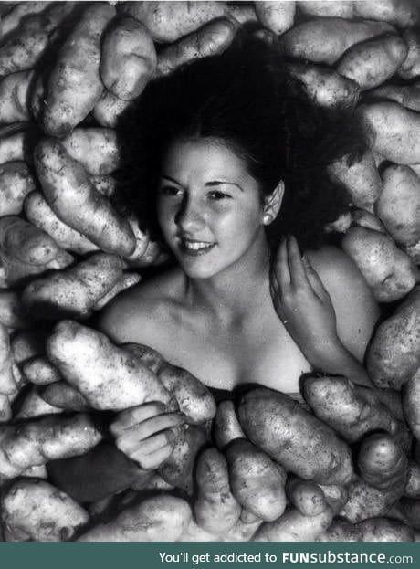 Miss Idaho, bizarre potato photoshoot, 1935