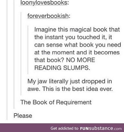 Would be amazing