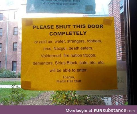 Shut this door