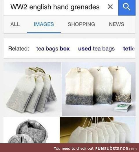 English hand grenades