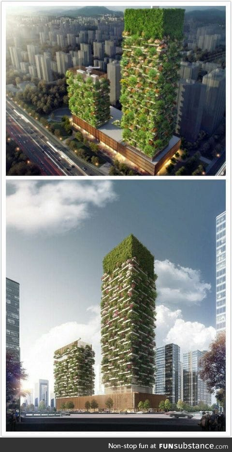 Vertical Forests that will be constructed in China to fight air pollution in 2018