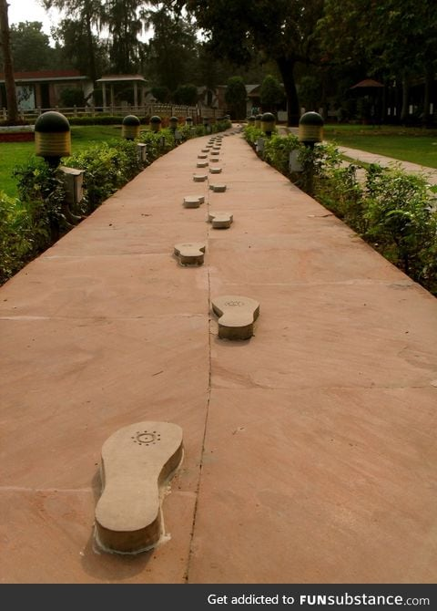 Gandhi's last footsteps before he was assassinated
