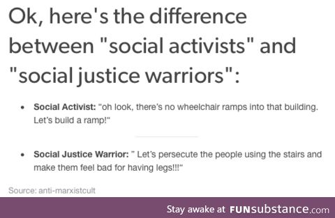 For all the SJWs who wonder why people don't want to tolerate them