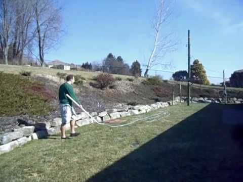 Cracking an 80 foot long whip. Well, trying to at least