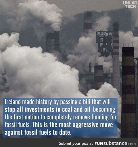Ireland takes a strong stand against fossil fuels