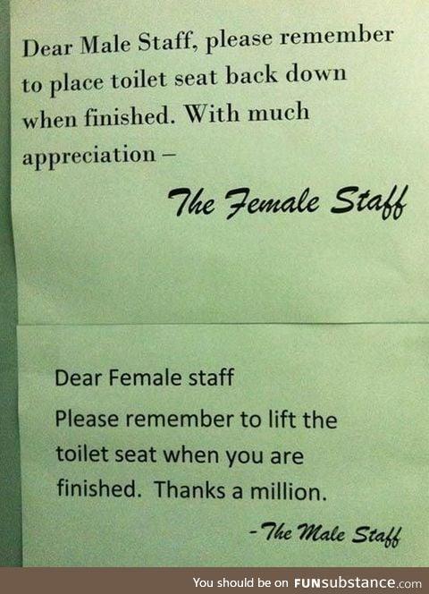 Dear Female Staff