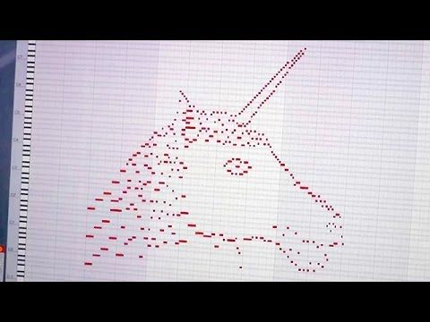 Guy wrote a piece of music in the shape of a unicorn