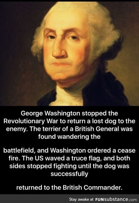George Washington stopped a war for a dog