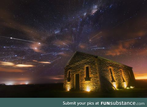 """Meteor Shower and the Milky Way"""