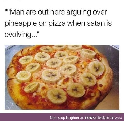 Pizza invented by a mad scientist