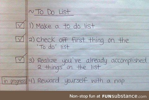 Yet another to do list