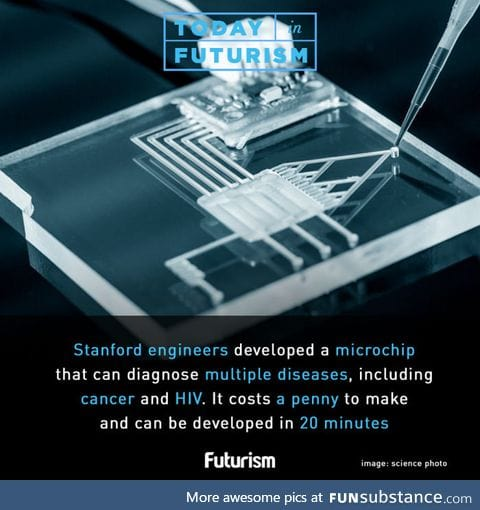 Microchip capable of detected diseases like cancer and HIV