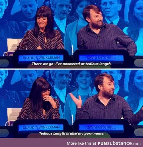 Who doesn't love David Mitchell?
