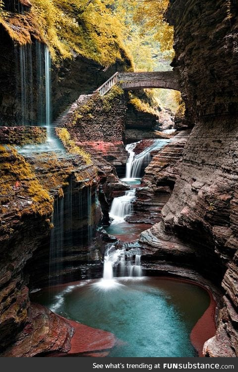 The beauty of watkins glen, new york