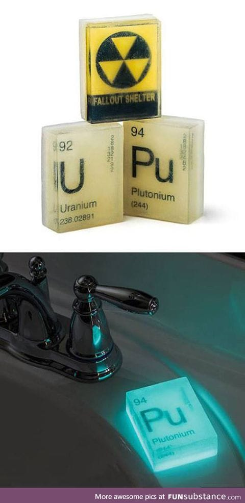 Plutonium glow in the dark table soap