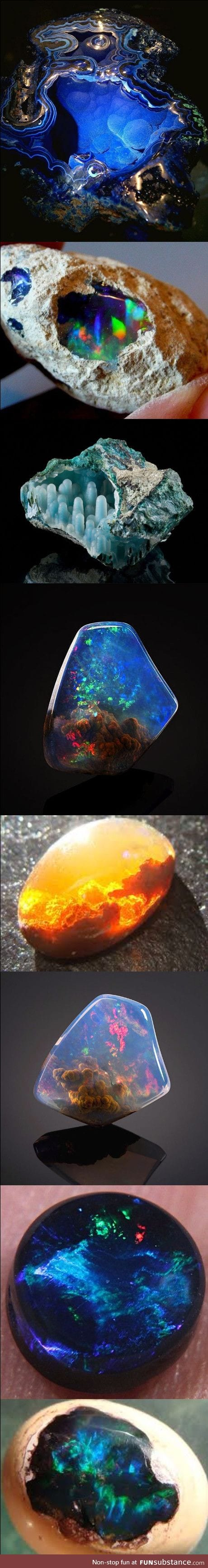 Rocks that look like they contain other worlds