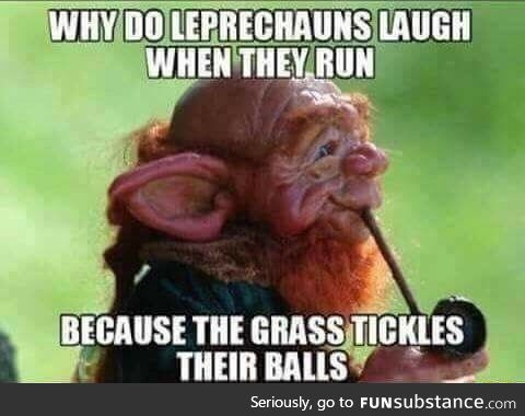 Why do Leprechauns laugh when they run