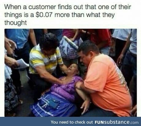 Working in retail be like