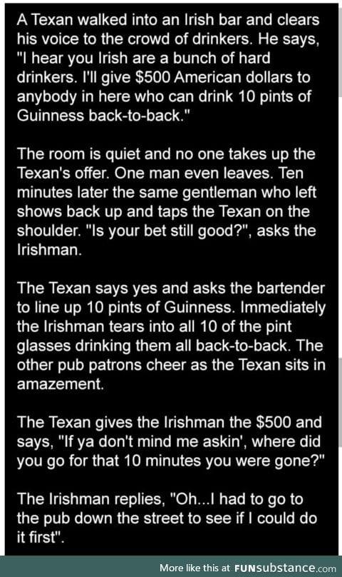 Betting with the Irish