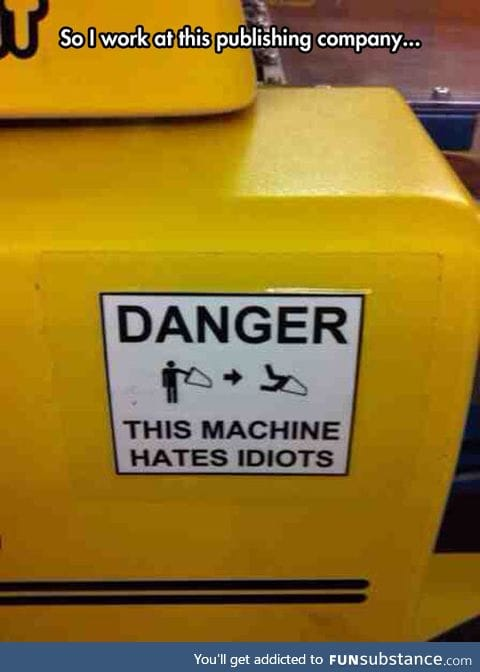 Proper warning sign