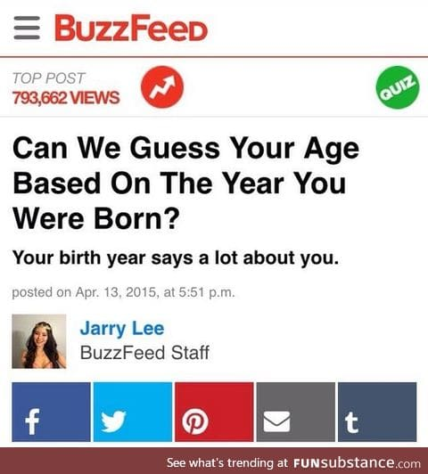 Damnit Buzzfeed