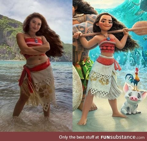 The best Moana cosplay I've seen so far