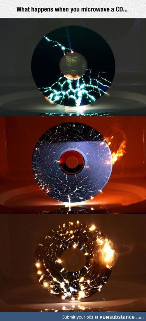 Microwaving a cd