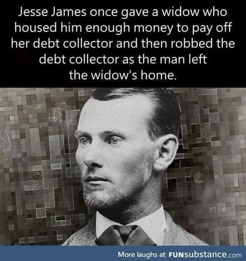 Jesse James being savage!
