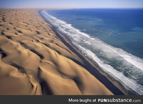 Desert and Water in Namibia