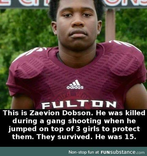 True hero died protecting 3 girls