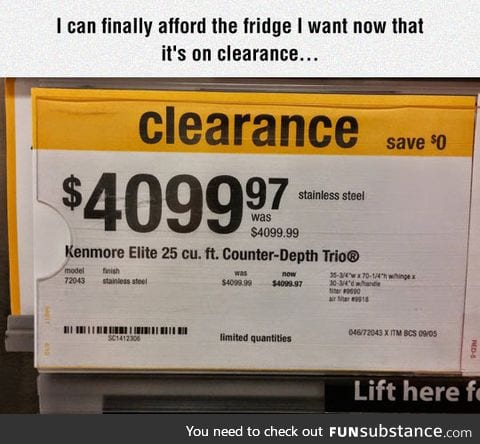So excited about all those savings