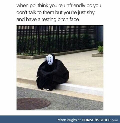 Sucks to have resting b*tch face