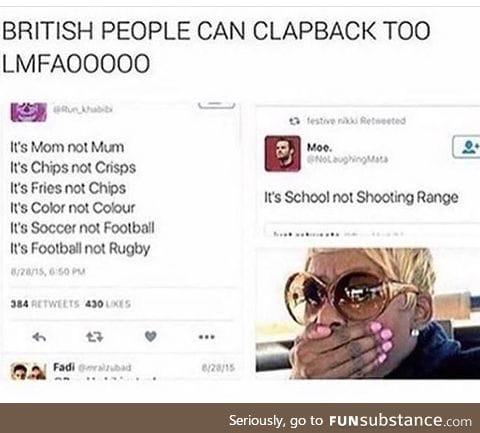 British people can be savage