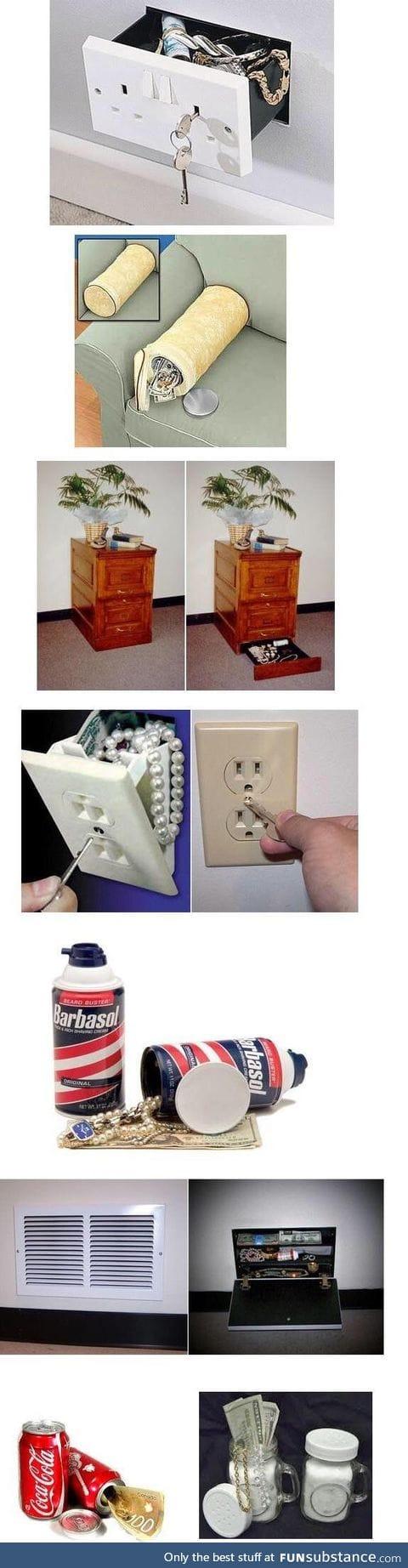 Ways to hide stuff