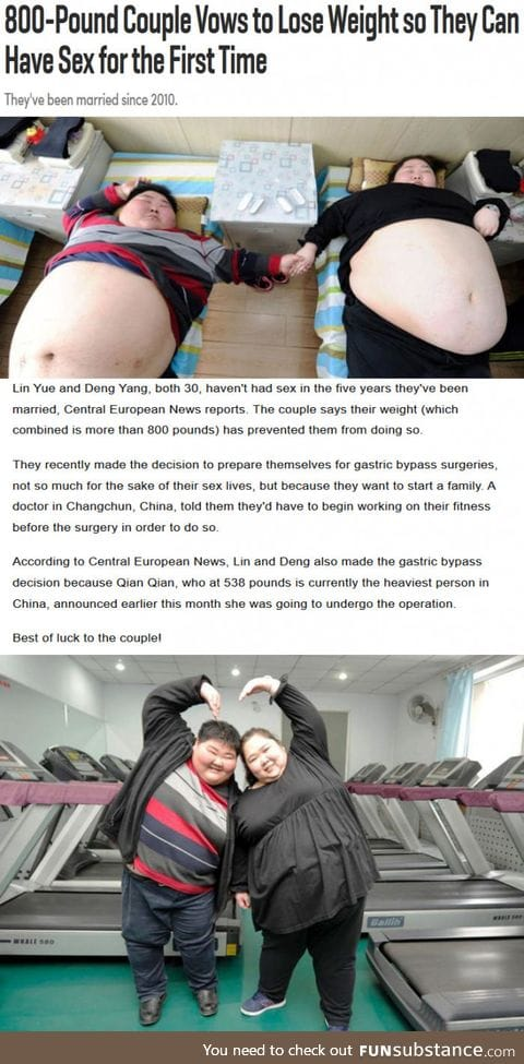 800-Pound Couple Vows to Lose Weight so They Can Have Sex for the First Time