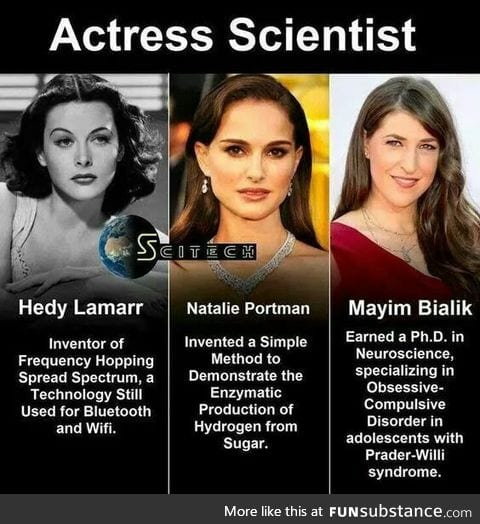 Actresses who were scientists