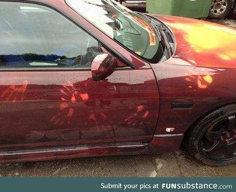 Heat sensitive car paint