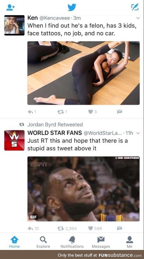 Stupid ass tweet
