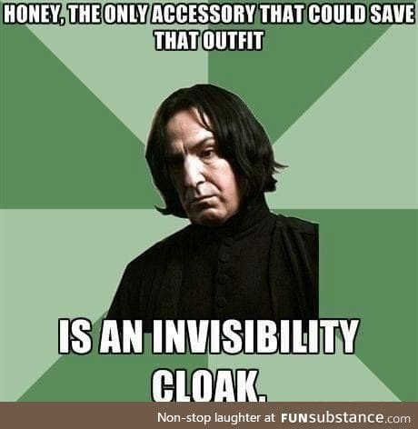 Professer Snape is cool, ya know.