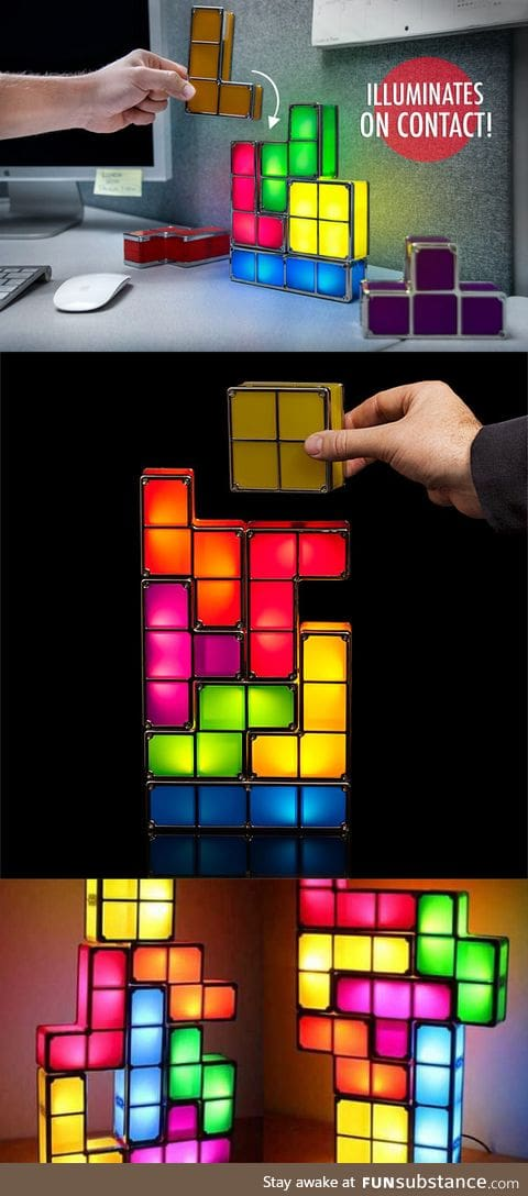 Tetris Light lamp that can be rearranged into any shape