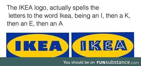 Subliminal message in IKEA's logo