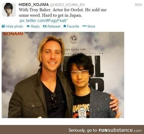 Kojima you snitch