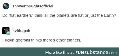 Every planet is flat