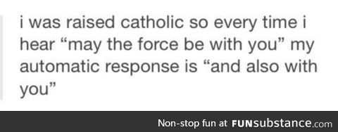 I'm actually surprised to not hear it when I watch the movies. I swore it was said.