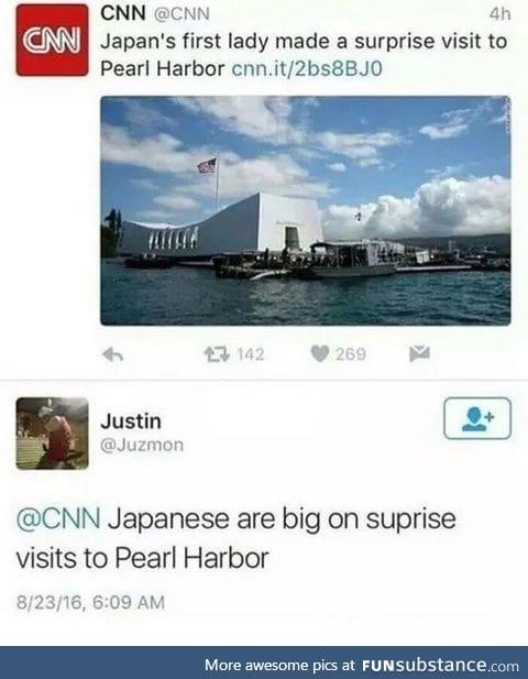 Japan's surprise visit