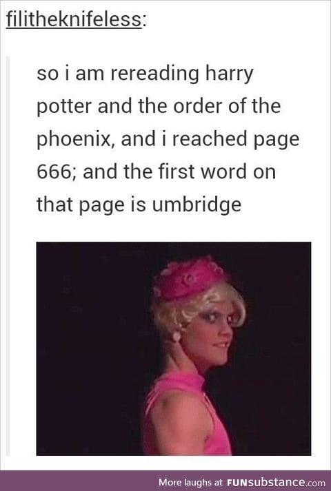 (Reloaded sans watermark) Umbridge: pink, kittens, TORTURE, china plates...