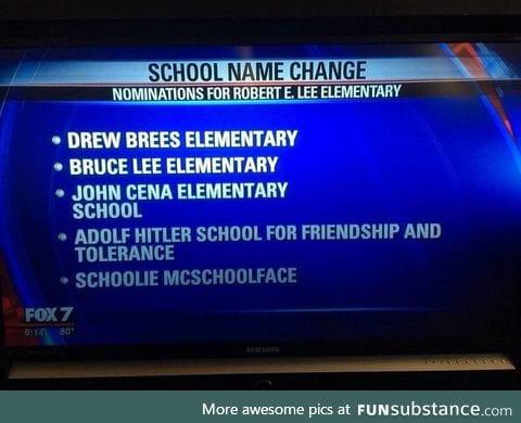 School name change