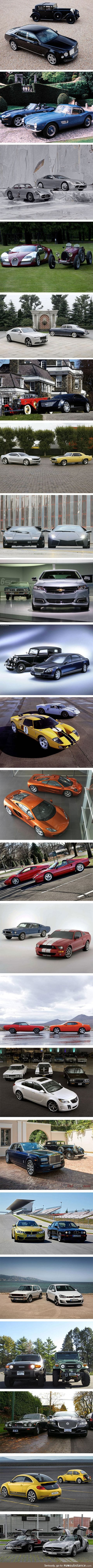 The same brand of car: Then and now