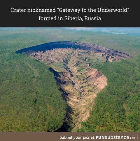 The result of increasing temperatures causing massive permafrost erosion