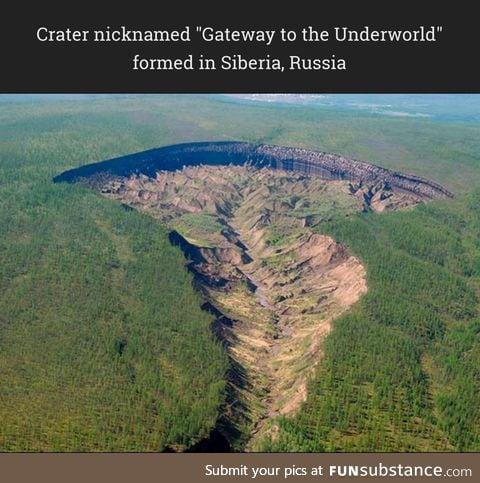 The result of increasing temperatures causing massive permafrost erosion